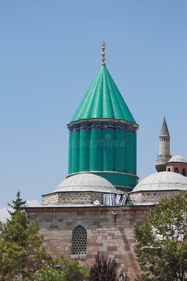 Der berühmteste Turm von Mevlana-Museum in Konya lizenzfreie stockbilder