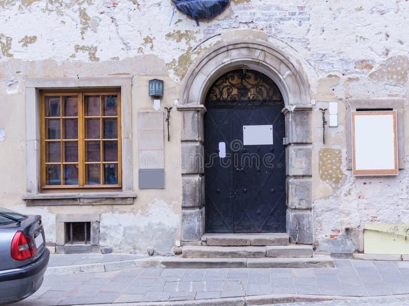 Der Bereich der alten Stadt in Warschau, Polen lizenzfreie stockfotografie