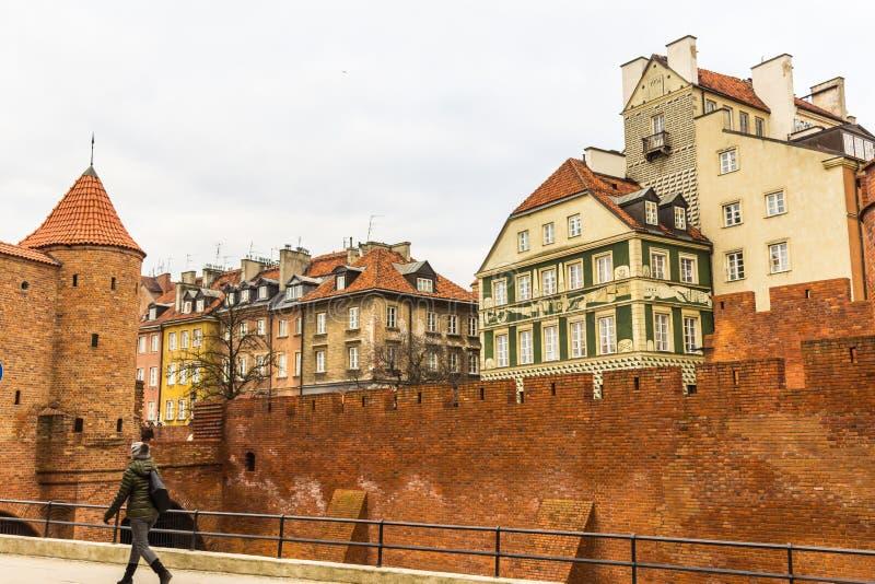 Der Bereich der alten Stadt in Warschau, Polen stockfoto