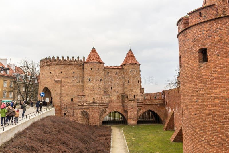 Der Bereich der alten Stadt in Warschau, Polen lizenzfreie stockfotos
