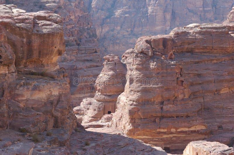 Der Berg - PETRA in Jordanien stockfotos