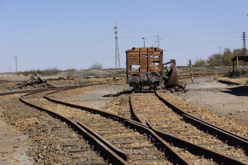 Der Bergbaubereich von Tharsis stockfoto