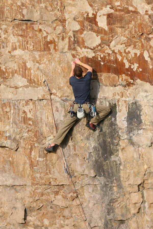 Der Bergsteiger 5 stockbild