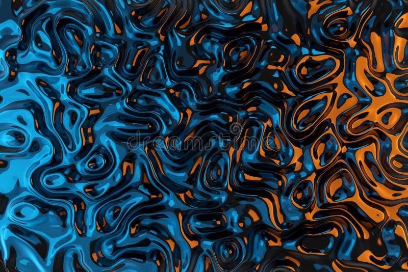 Der Beschaffenheitsmuster 3D der Zusammenfassung gewellte flüssige Wiedergabe vektor abbildung