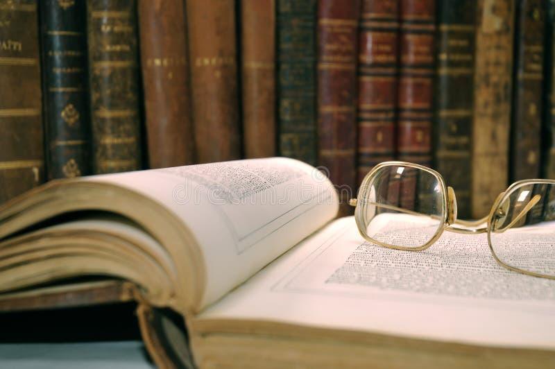 In der Bibliothek lizenzfreie stockfotos