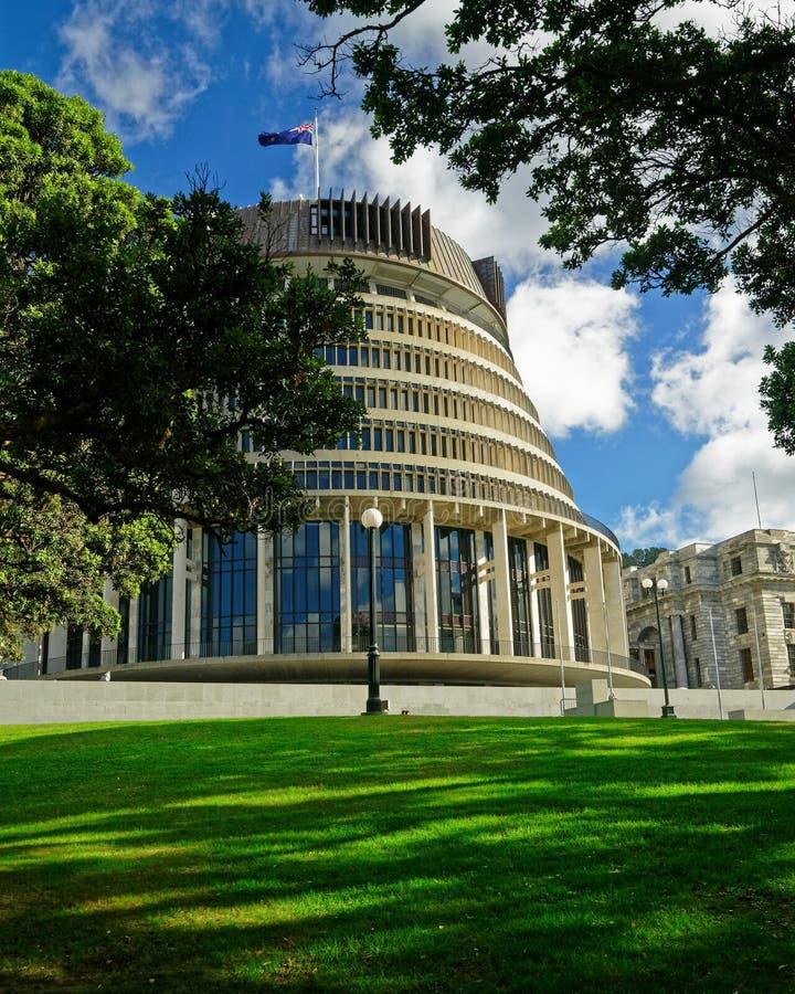 Der Bienenstock - Neuseeland-Parlamentsgebäude in Wellington stockfoto