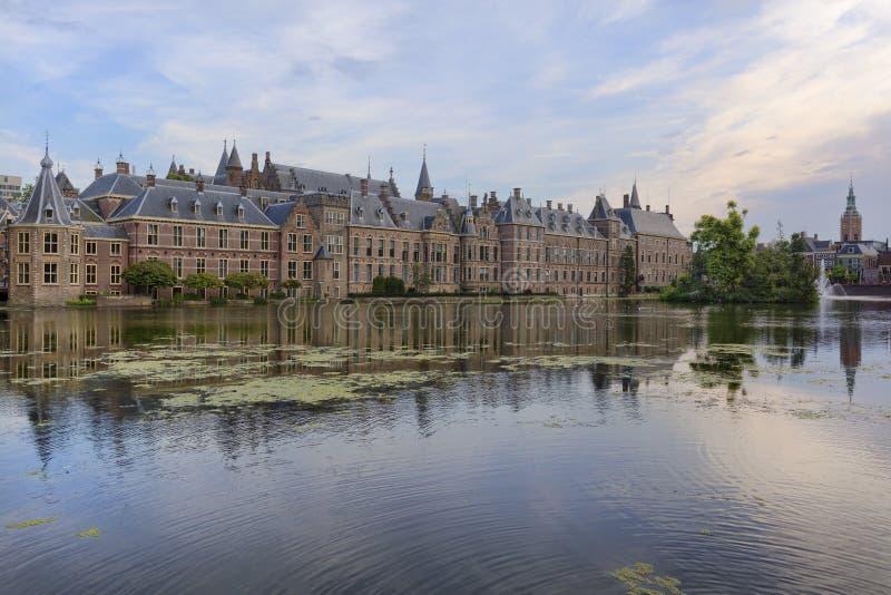 Der Binnenhof-Komplex in Den Haag, die Niederlande lizenzfreie stockfotografie