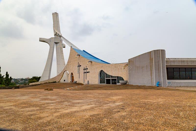 Der Blick auf die Kathedrale Abidjan Côte d'Ivoy lizenzfreies stockfoto