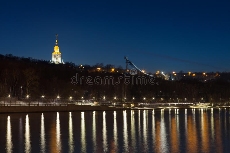 Der blutige Park Vorobyovy in Moskau stockfoto