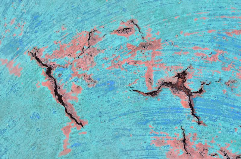 Der Boden hat einen Sprung der Farbe, Hintergrund stockfotos