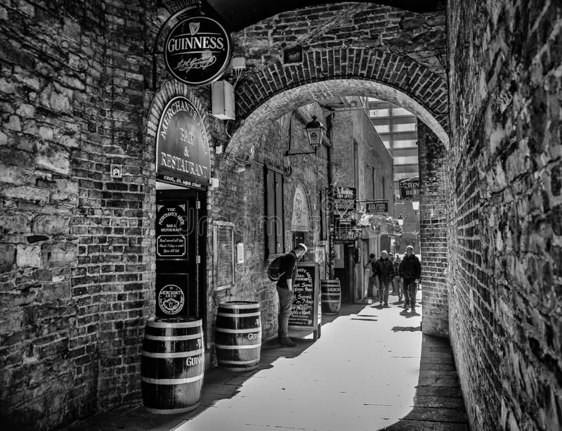 Der Bogen Dublin--Dkaufmannes lizenzfreies stockfoto