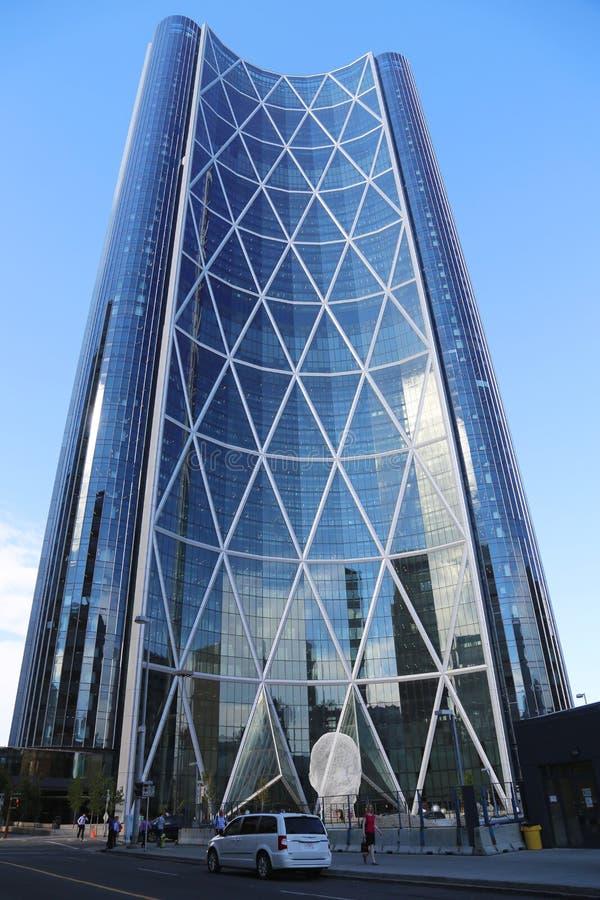 Der Bogen-Turm in Calgary, Alberta lizenzfreie stockfotografie