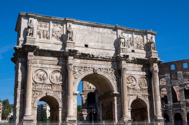 Der Bogen von Constantine Rome, Italien stockbilder