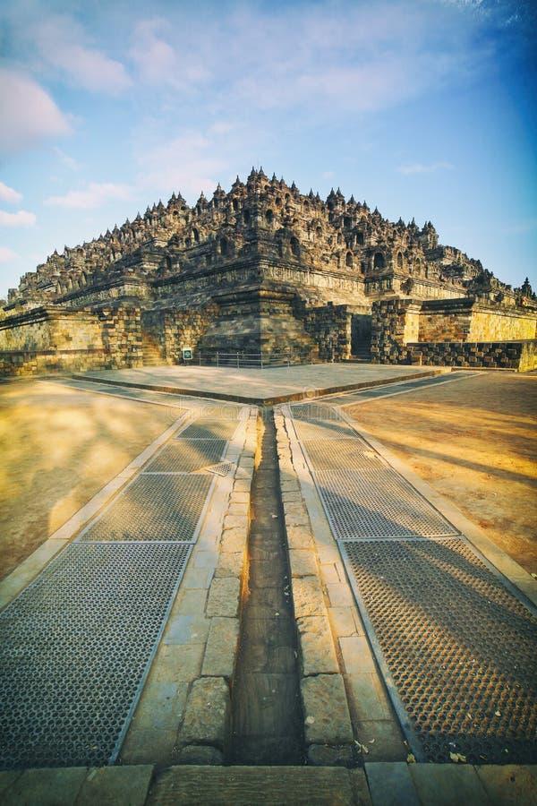 Der Borobudur-Tempel Süd-Karmawibhangga stockfoto