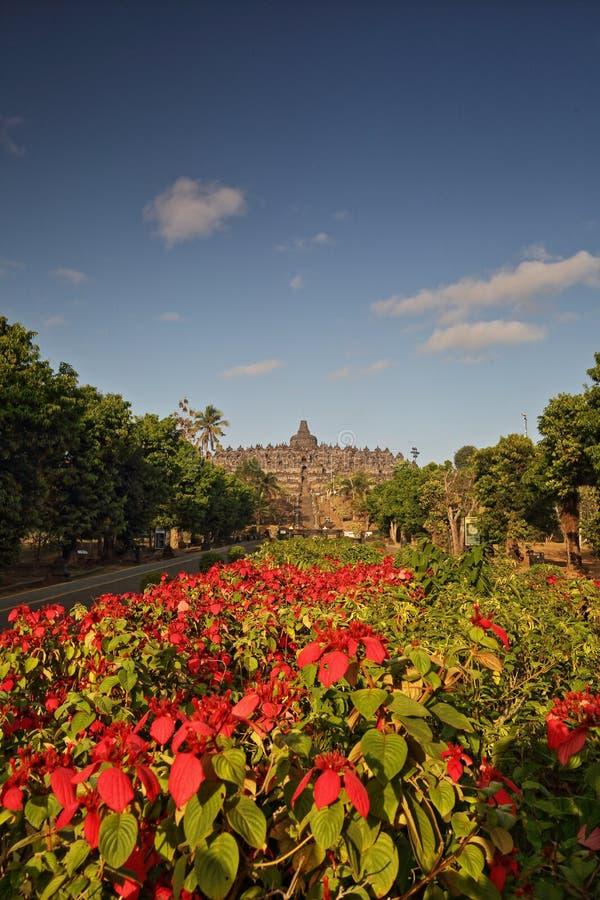 Der Borobudur-Tempel von Lumbini Park Eintritt lizenzfreie stockbilder