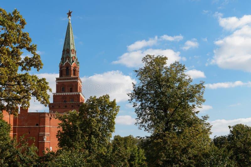 Der Borovitskaya-Turm, der Kreml lizenzfreie stockbilder