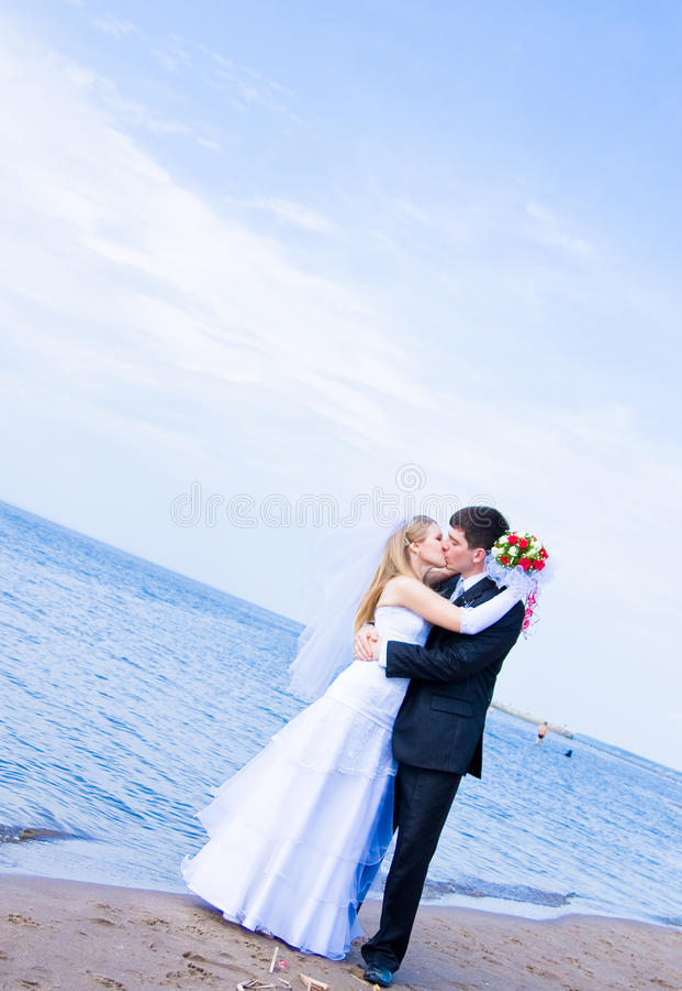 Der Bräutigam und die Braut stockbilder