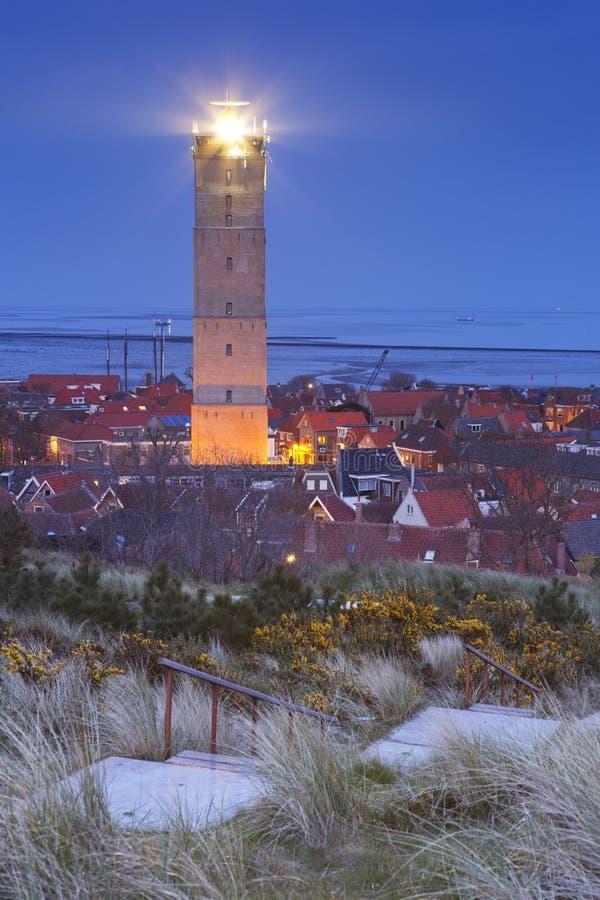 Der Brandaris-Leuchtturm auf Terschelling, die Niederlande stockfotos