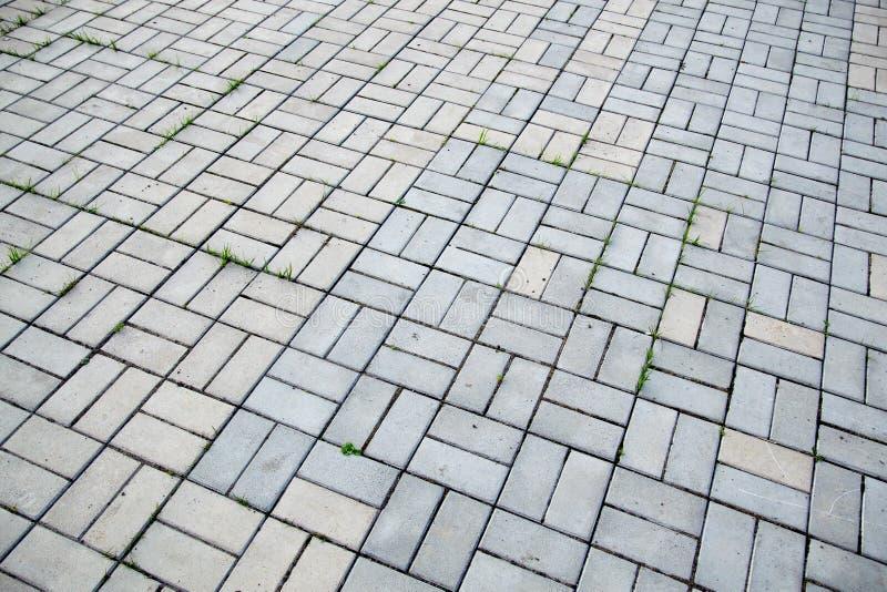 Der bricked Pflasterstein des Musters lizenzfreie stockfotos