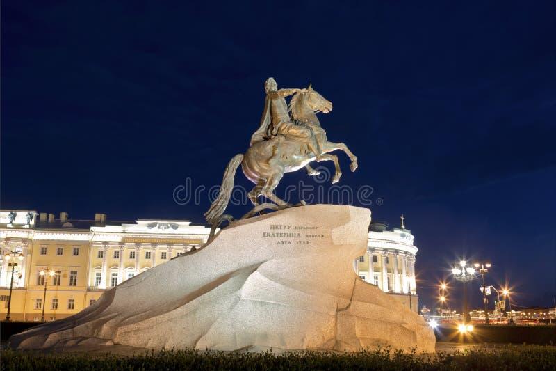 Der Bronzereiter - Reiterstatue von Peter der Große in Staint-Petersburg, stockbilder