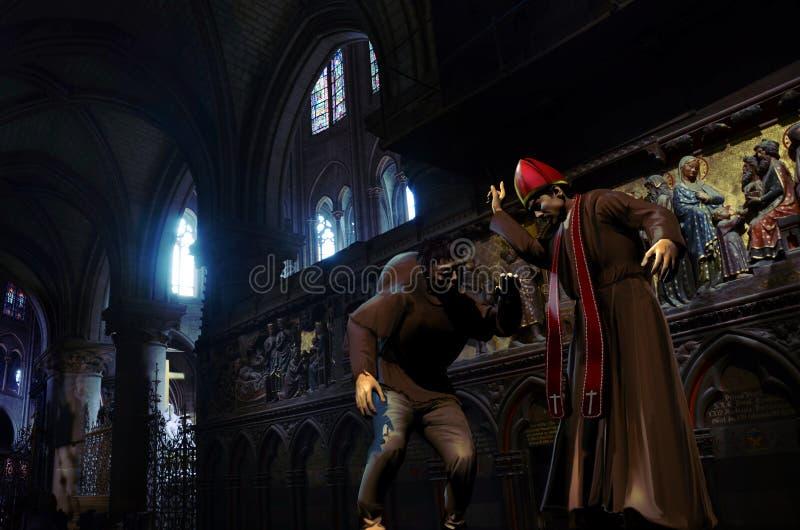 Der Bucklige von Notre Dame stock abbildung