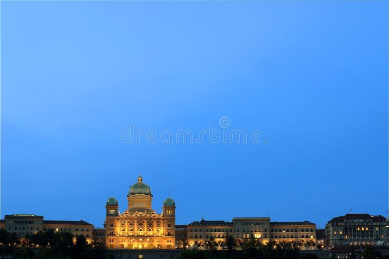 Der Bundespalast von der Schweiz stockbild