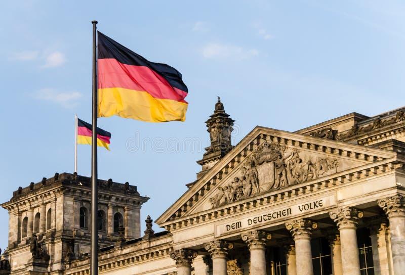 Der Bundestag Berlin stockfotografie