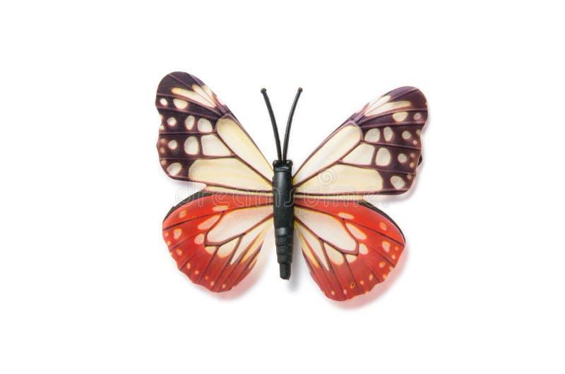 Der bunte Schmetterling lokalisiert auf weißem Hintergrund lizenzfreie stockfotos
