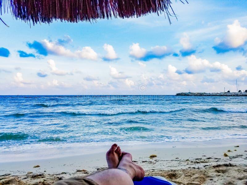 Der Cabana mit Meerblick stockfotos
