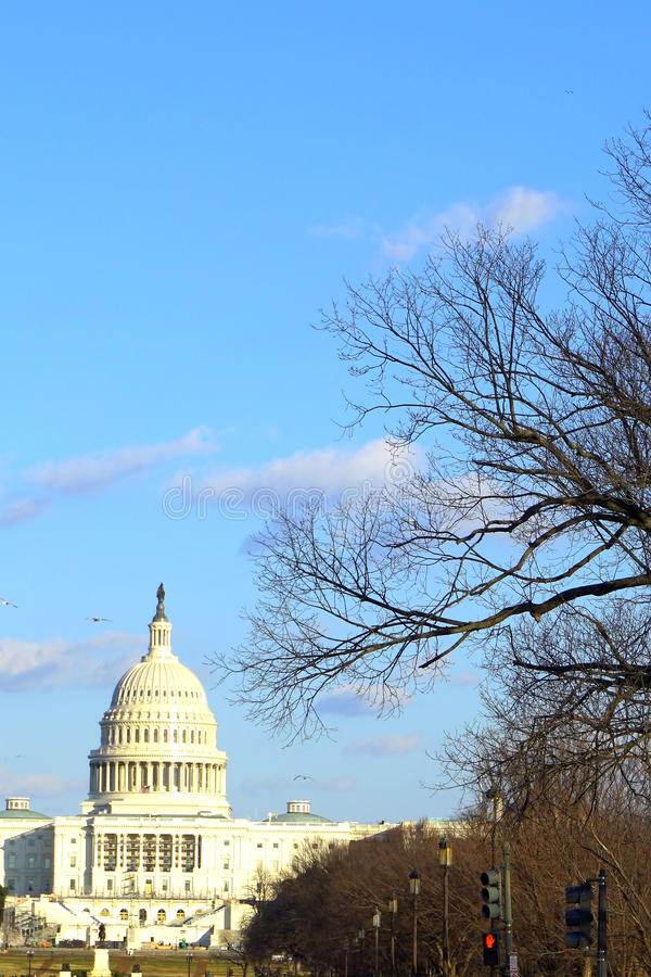 Der Capitol Hill im Winter stockfoto