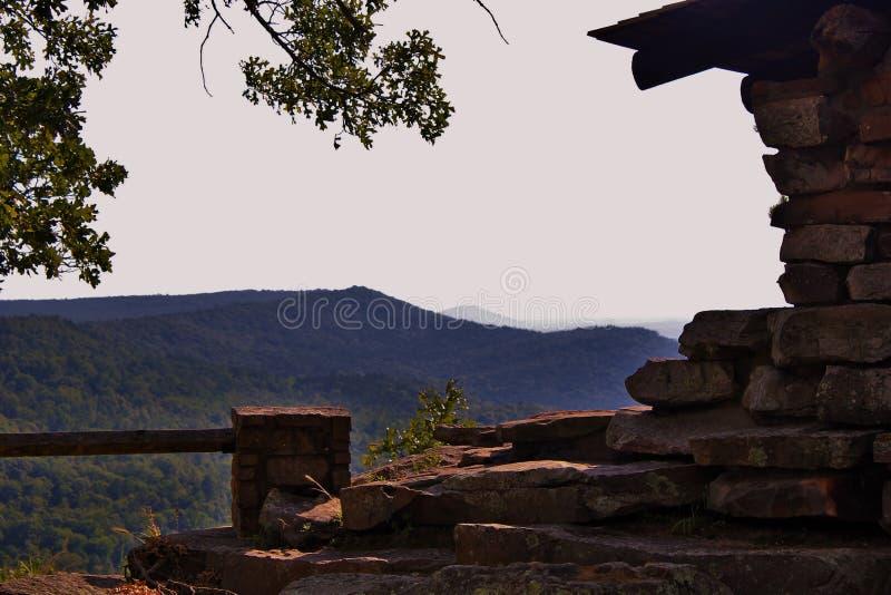 Der CCC übersehen in kleinem Jean State Park Arkansas stockfotos