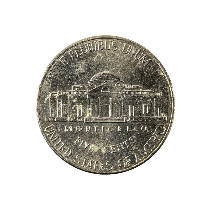 5 der Cent-Münze 2013 Vereinigter Staaten Gegenstücck stockbild