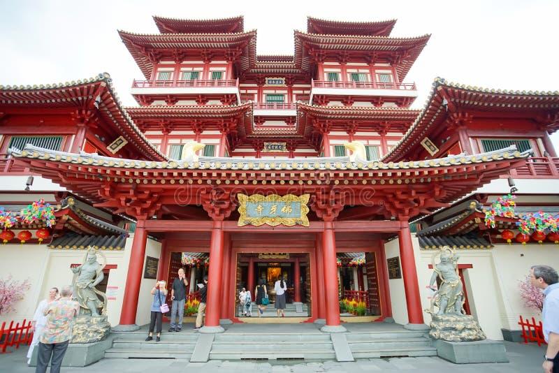Der chinesische buddhistischer Tempel Buddha-Zahn-Relikt-Tempel lizenzfreie stockfotografie