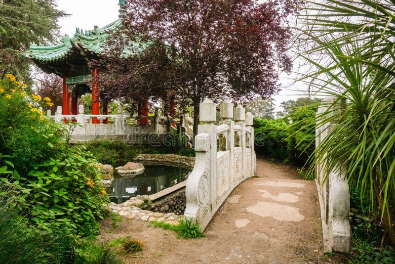 Der chinesische Pavillon, Golden Gate Park lizenzfreie stockfotografie