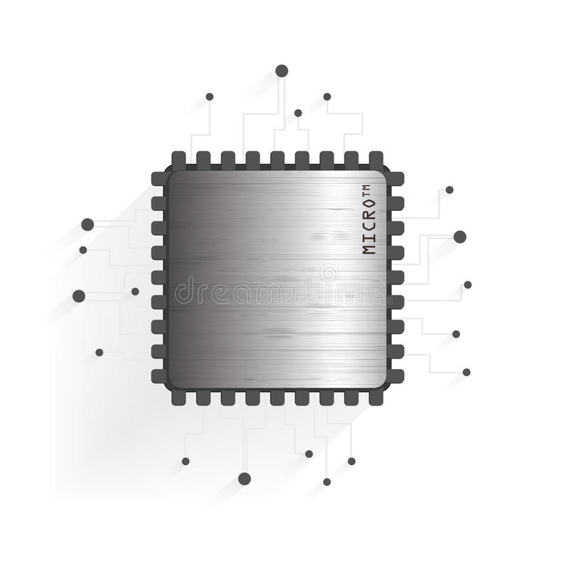 Der Chip auf einem weißen Hintergrund lizenzfreie stockfotos