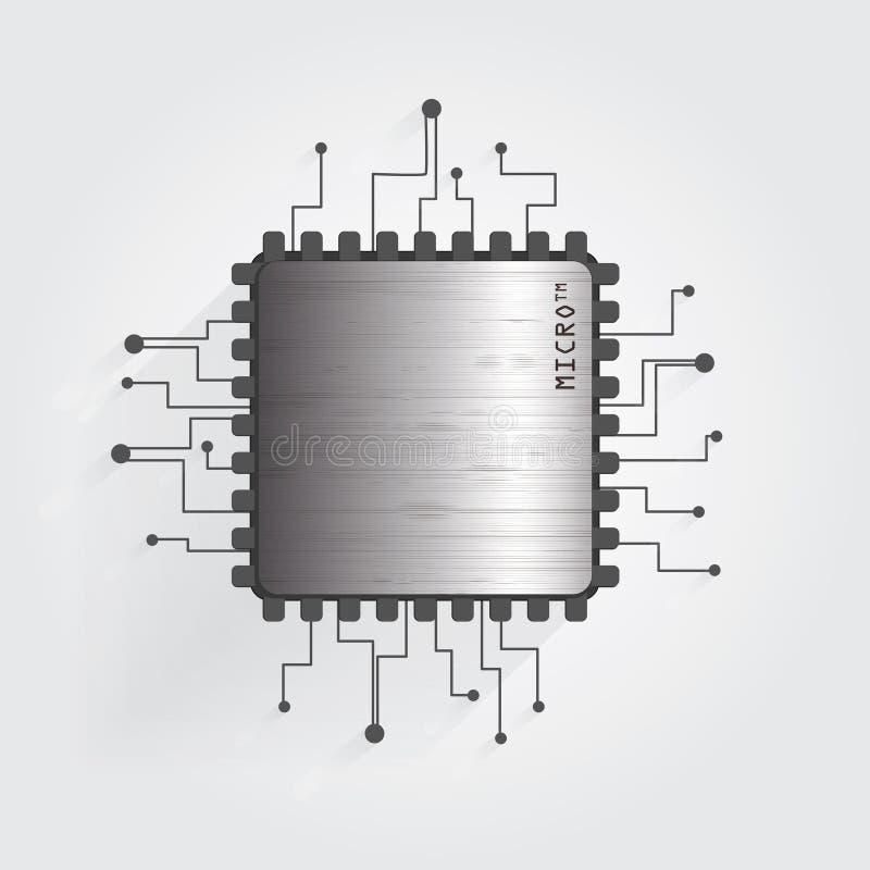 Der Chip auf einem weißen Hintergrundvektor lizenzfreie stockfotografie