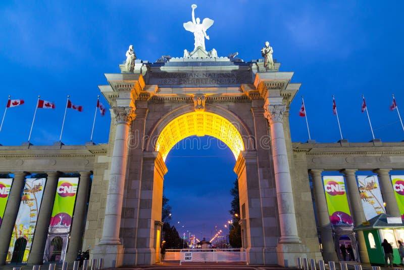 Der CNE-Bogen in Toronto lizenzfreies stockfoto