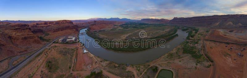Der Colorado-Vogelperspektive, Moab, Utah, USA stockfoto