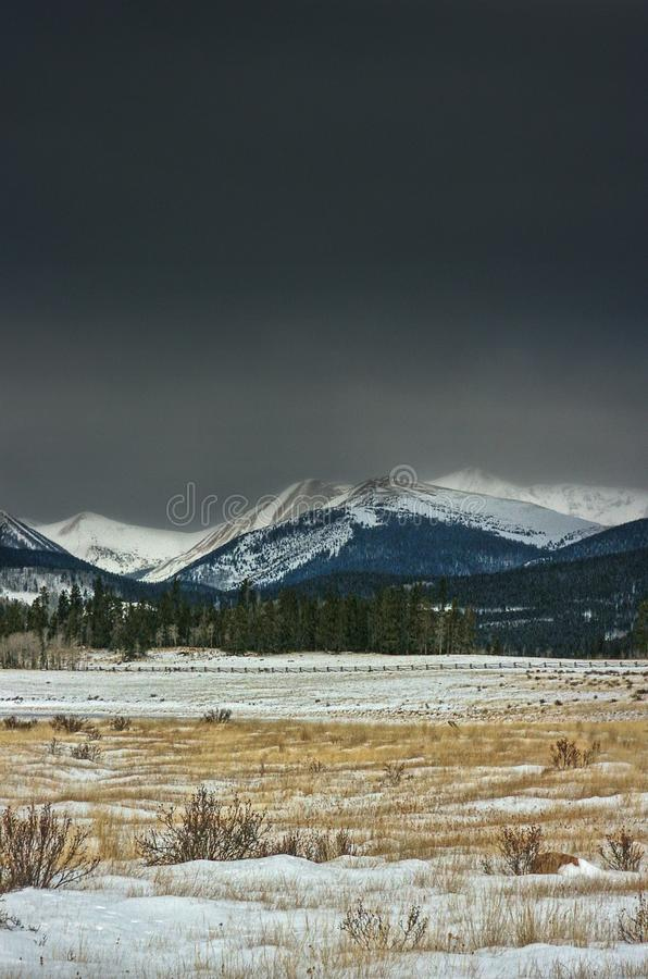 Der Colorado-Winter lizenzfreies stockbild