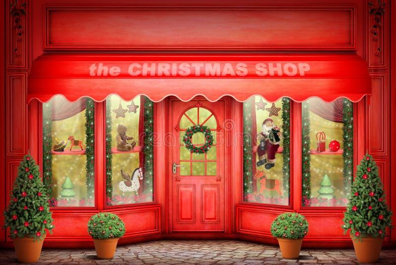 Der Cristmas-Shop stockbild