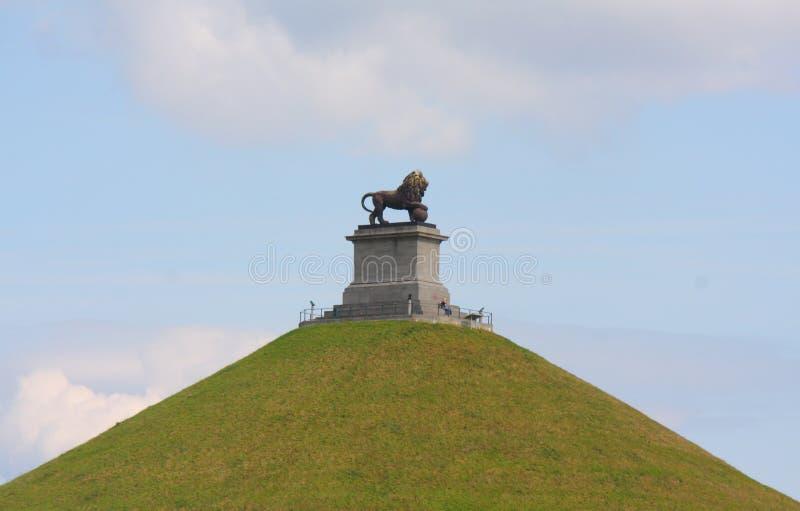 Der Damm des Löwes von Waterloo stockfoto