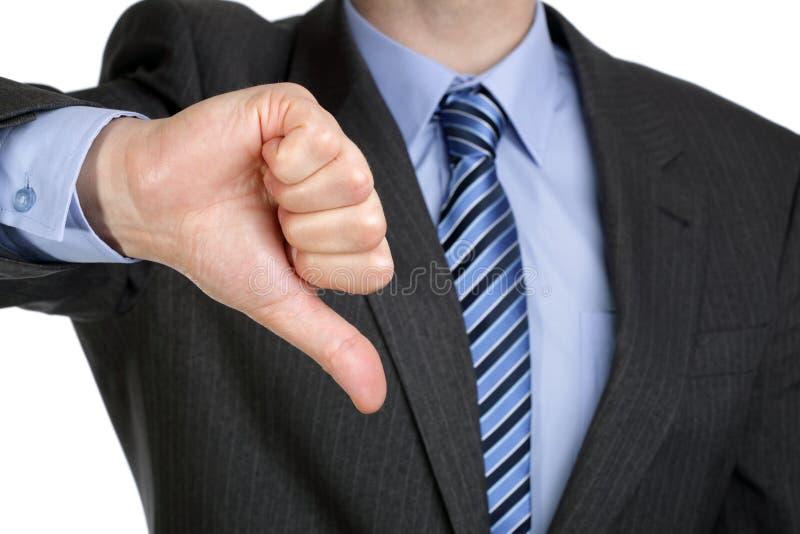 Der Daumen Geste unten Hand lizenzfreies stockbild