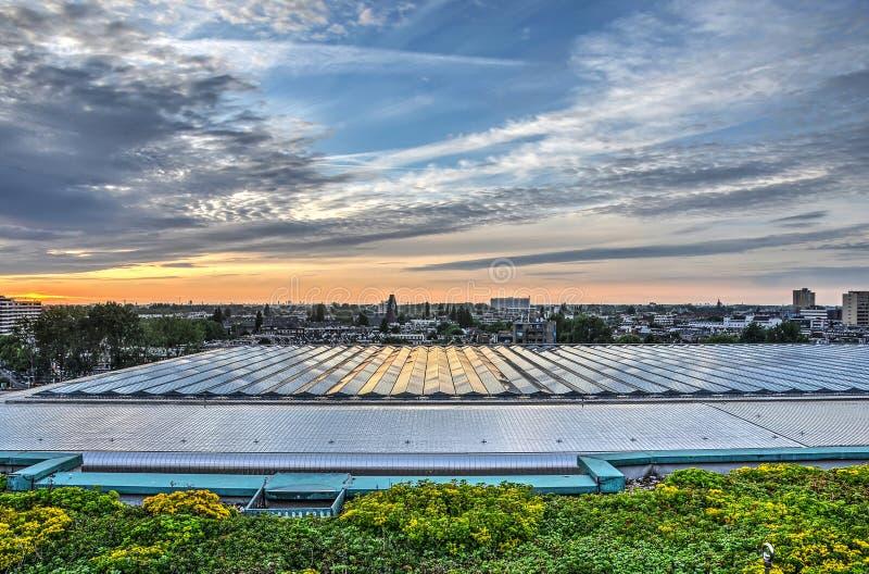 Der de l'ONU de toit de station un ciel dramatique photographie stock libre de droits
