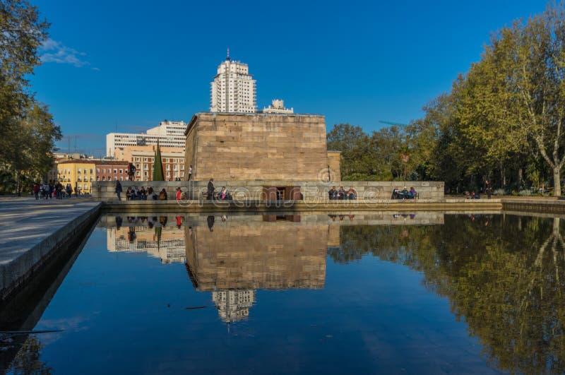 Der Debod-Tempel, Madrid spanien lizenzfreies stockbild