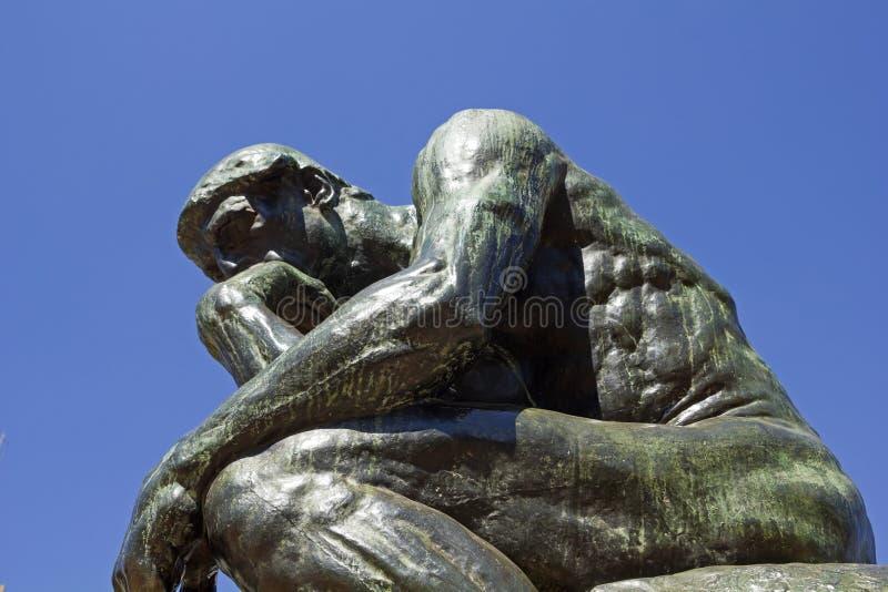 Der Denker durch Rodin lizenzfreie stockfotos
