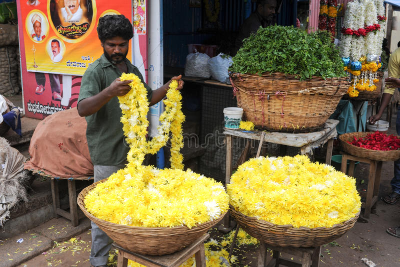 Der Devaraja-Markt in Mysore auf Indien stockfotos