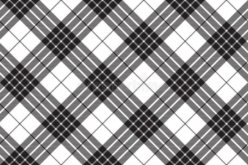Der diagonalen nahtloses Muster Gewebe-Beschaffenheit des Cameron-Clanschottenstoffs vektor abbildung