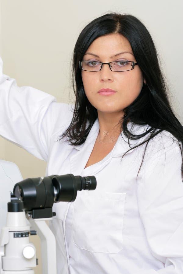 Der Doktor der Oculist stockfoto