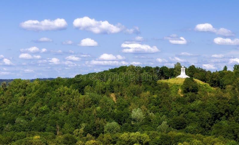 Der Dreiweghügel in Vilnius stockbild