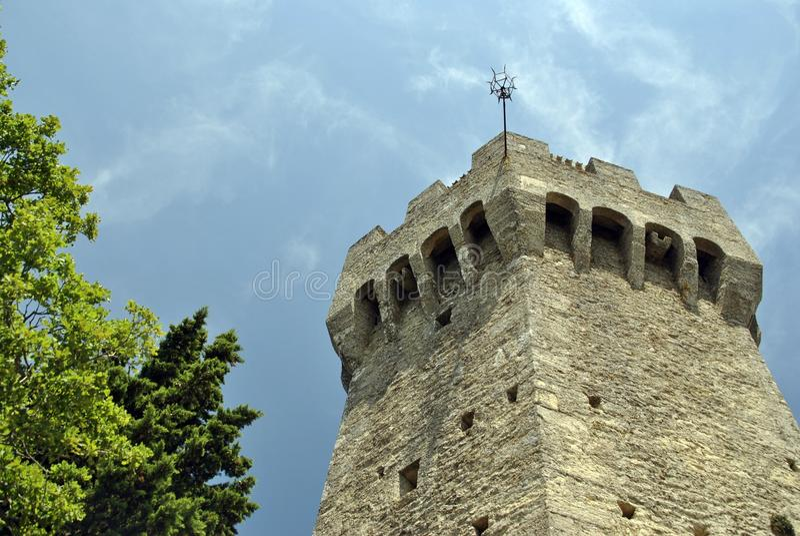 Der dritte Turm von San Marino, Montale lizenzfreie stockbilder